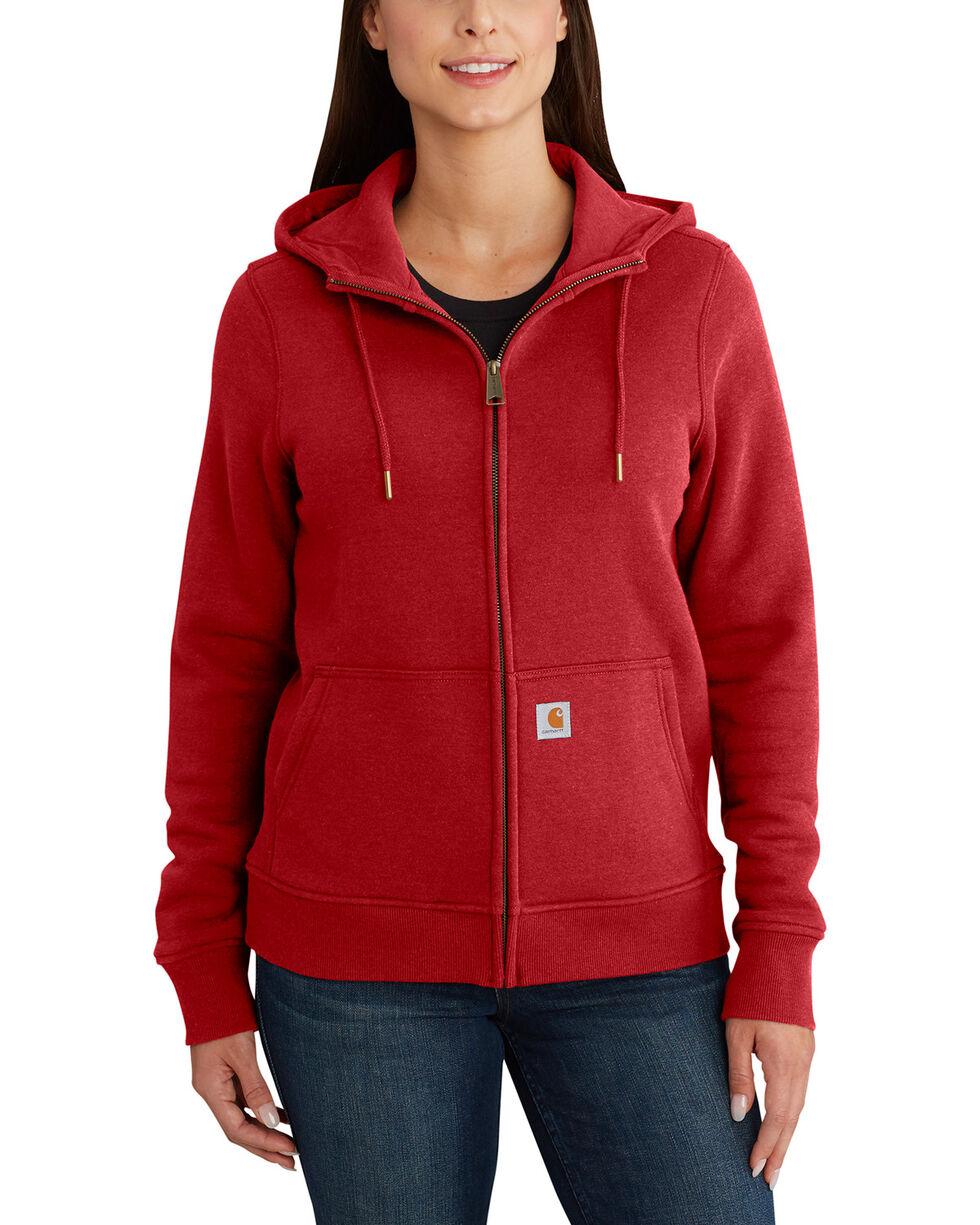 Carhartt Women's Clarksburg Full-Zip Hoodie , Dark Red, hi-res