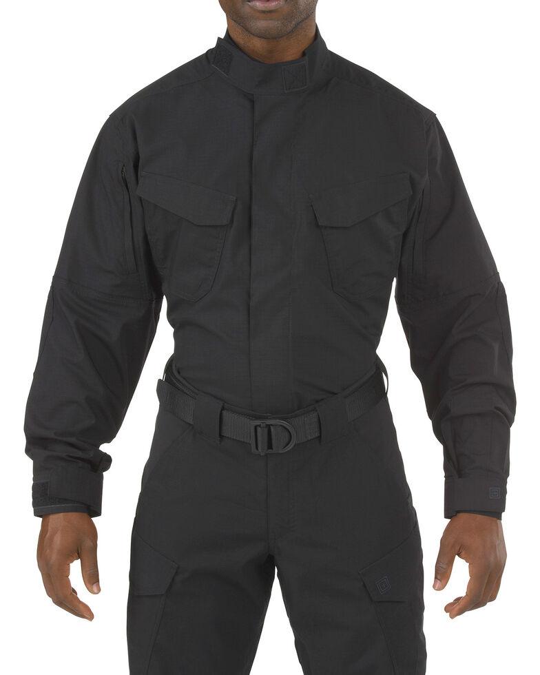 5.11 Tactical Stryke TDU Long Sleeve Shirt - Tall Sizes (2XT - 5XT), Black, hi-res