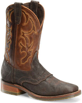 "Double H Men's 11"" Wide Square Toe Roper Boots, Lt Brown, hi-res"