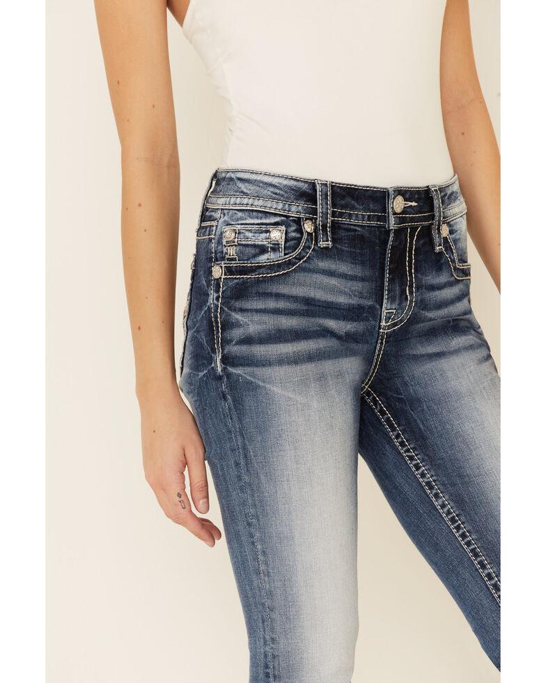 Miss Me Women's Winged Cross Chloe Bootcut Jeans, Blue, hi-res