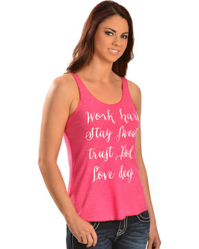 ATX Mafia Women's Love Deep Tank Top, Pink, hi-res
