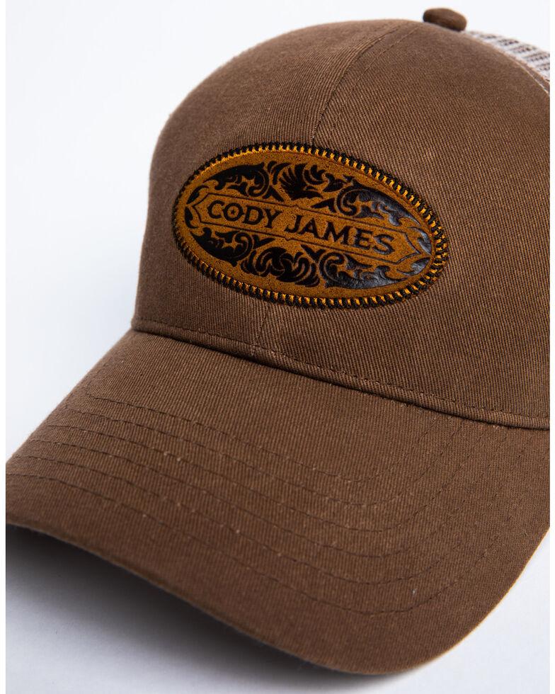Cody James Men's Brown Coin Patch Mesh Ball Cap, Lt Brown, hi-res