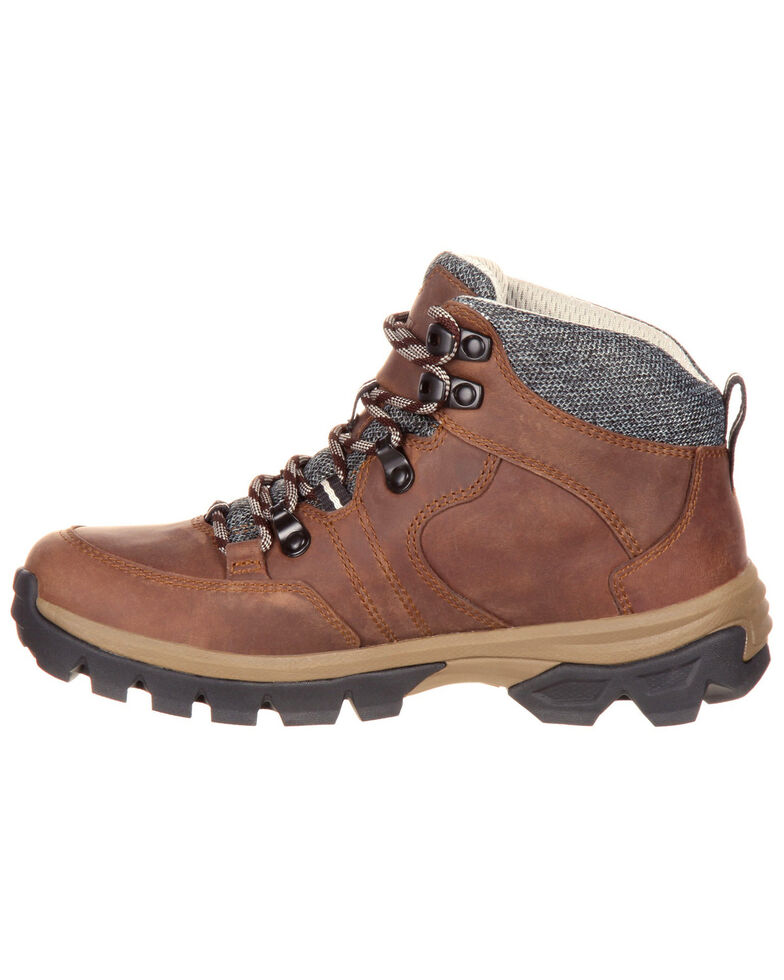 Rocky Women's Endeavor Point Waterproof Outdoor Shoes - Round Toe, Brown, hi-res