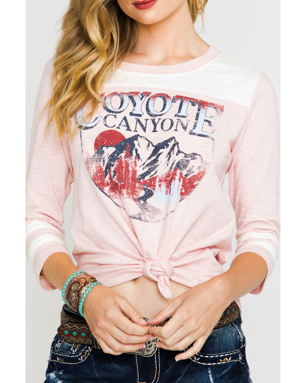 Shyanne® Women's Coyote Canyon Football Tee, Pink, hi-res