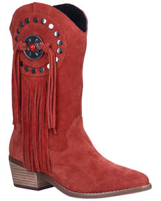 Dingo Women's Takin' Flight Western Boots - Round Toe, Red, hi-res