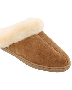 Minnetonka Women's Sheepskin Mules, Tan, hi-res