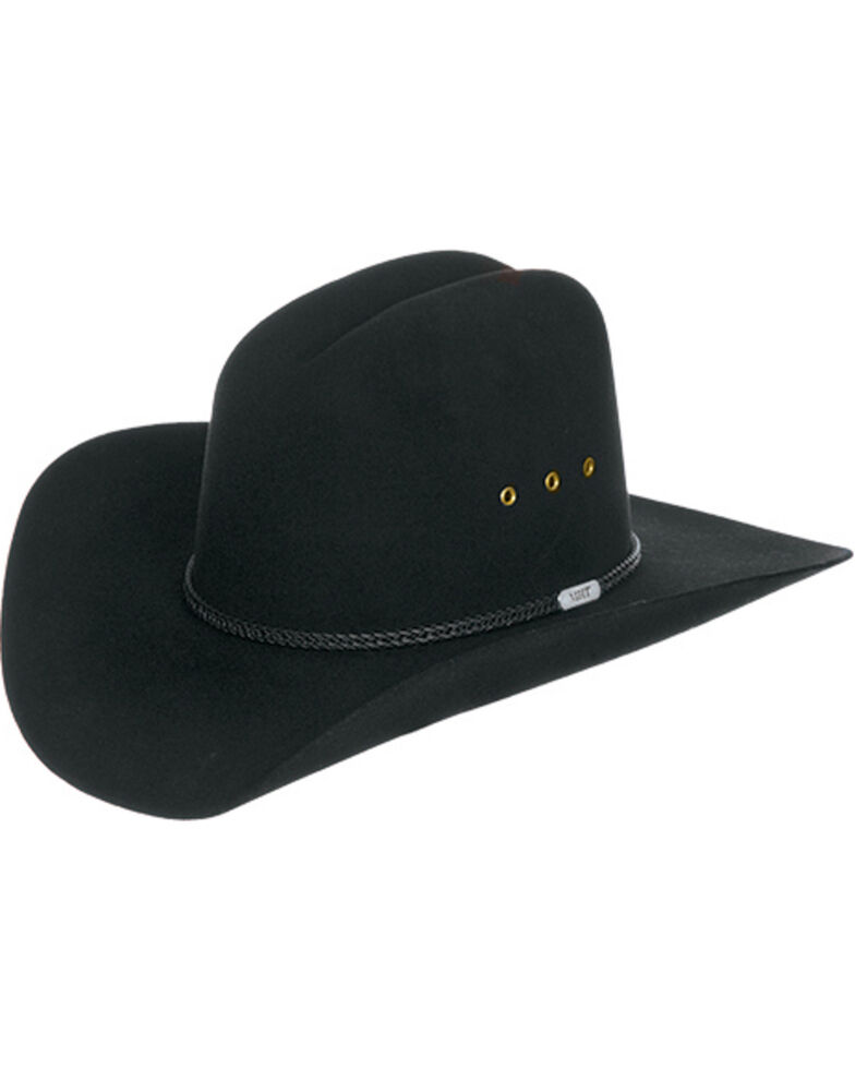 Master Hatters Boys' Black Rancher Jr. 3X Wool Felt Cowboy Hat, Black, hi-res