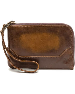 Frye Women's Melissa Wristlet , Dark Brown, hi-res