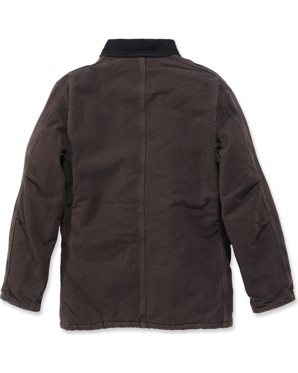 Carhartt Men's Sandstone Traditional Arctic Quilt Lined Coat, Brown, hi-res