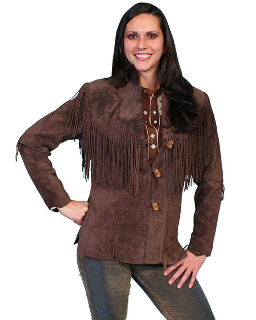 Leatherwear by Scully Women's Cheyenne Jacket - Plus, Brown, hi-res