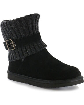 UGG® Women's Cambrige Classic Knit Boots, Black, hi-res