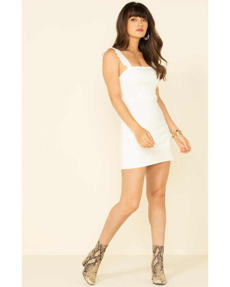 Show Me Your Mumu Women's Ruthie Ruffle Dress , White, hi-res