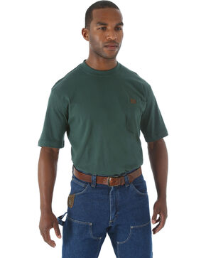 Riggs Workwear Men's Short Sleeve Pocket T-Shirt, Forest Green, hi-res