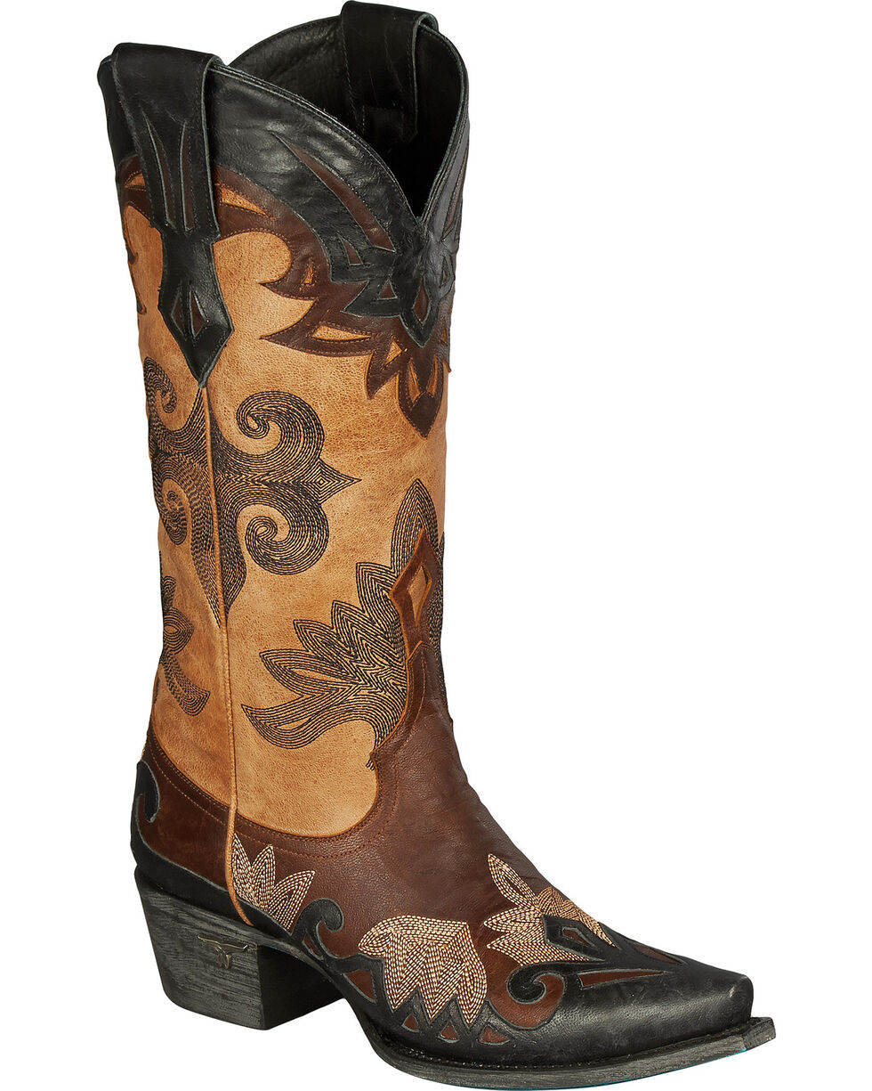 Lane Women's Maggie Western Fashion Boots, Brown, hi-res