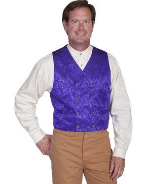 Scully Men's Floral Pattern Silk Vest, Purple, hi-res