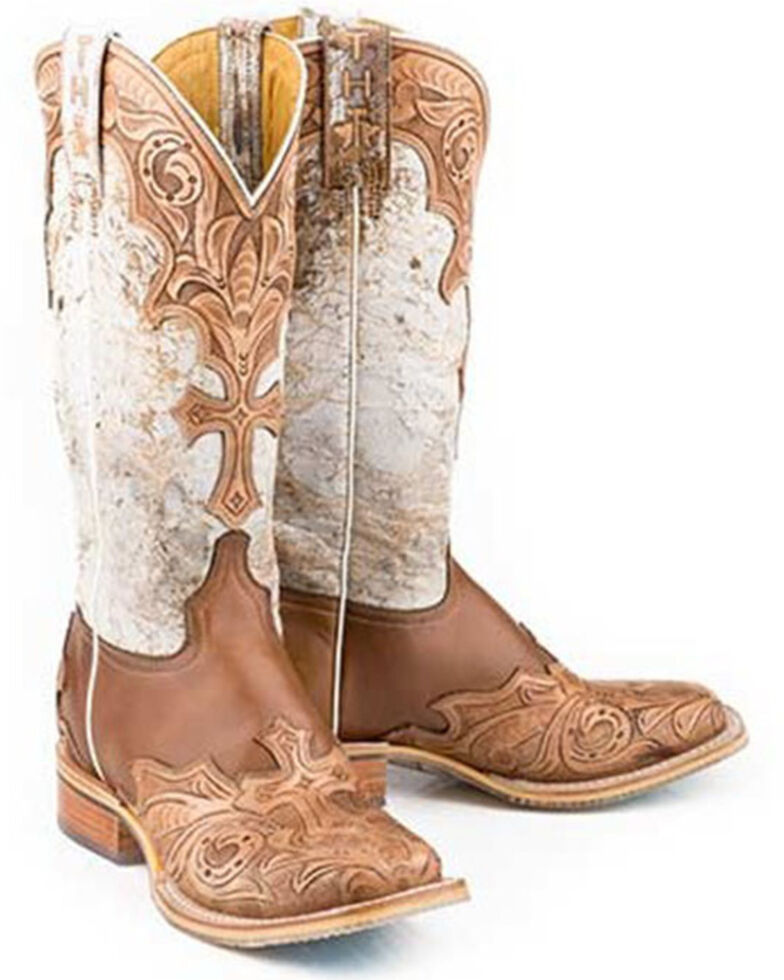 Tin Haul Women's Made In Heaven Western Boots - Wide Square Toe, Tan, hi-res