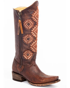 Idyllwind Women's Vagabond Western Boots - Snip Toe, Brown, hi-res