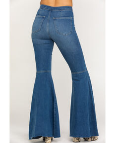 Free People Women's Dark Just Float on Flare Jeans, Dark Blue, hi-res