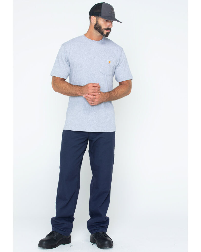 Carhartt Short Sleeve Pocket Work T-Shirt - Big & Tall, Hthr Grey, hi-res