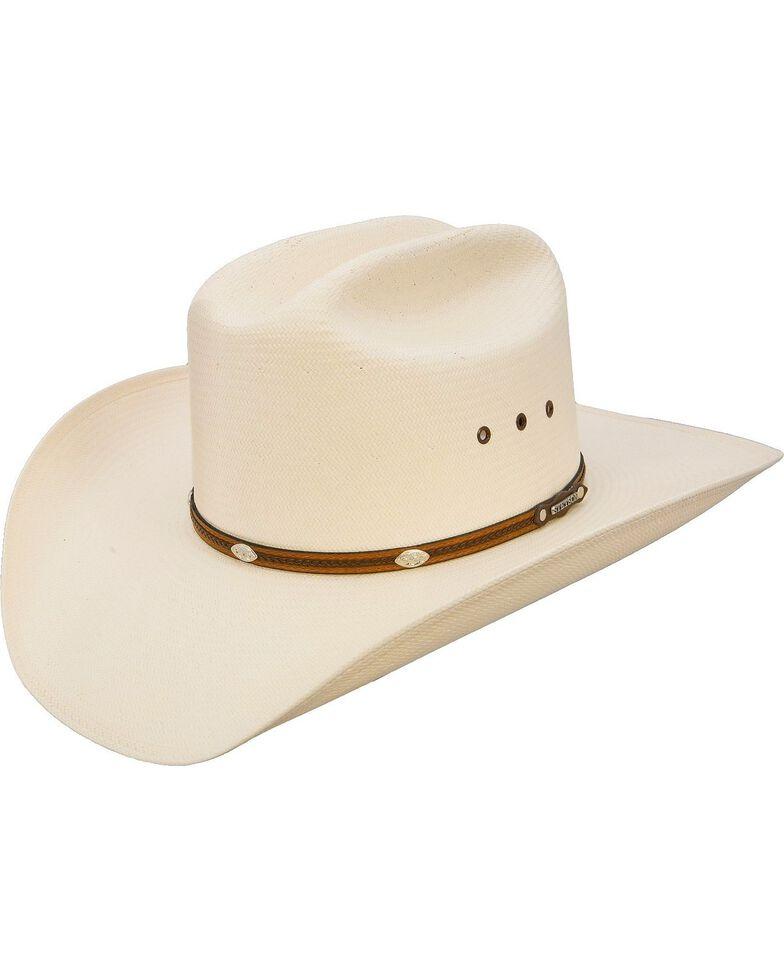 Stetson Alamo 8X Shantung Straw Cowboy Hat, Natural, hi-res