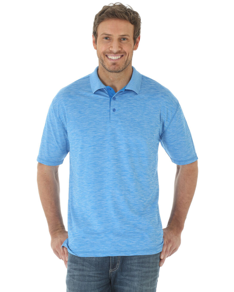 Wrangler 20X Men's Light Blue Advanced Comfort Performance Short Sleeve Polo Shirt , No Color, hi-res