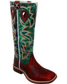 Twisted X Kid's Buckaroo Western Boots, Cognac, hi-res