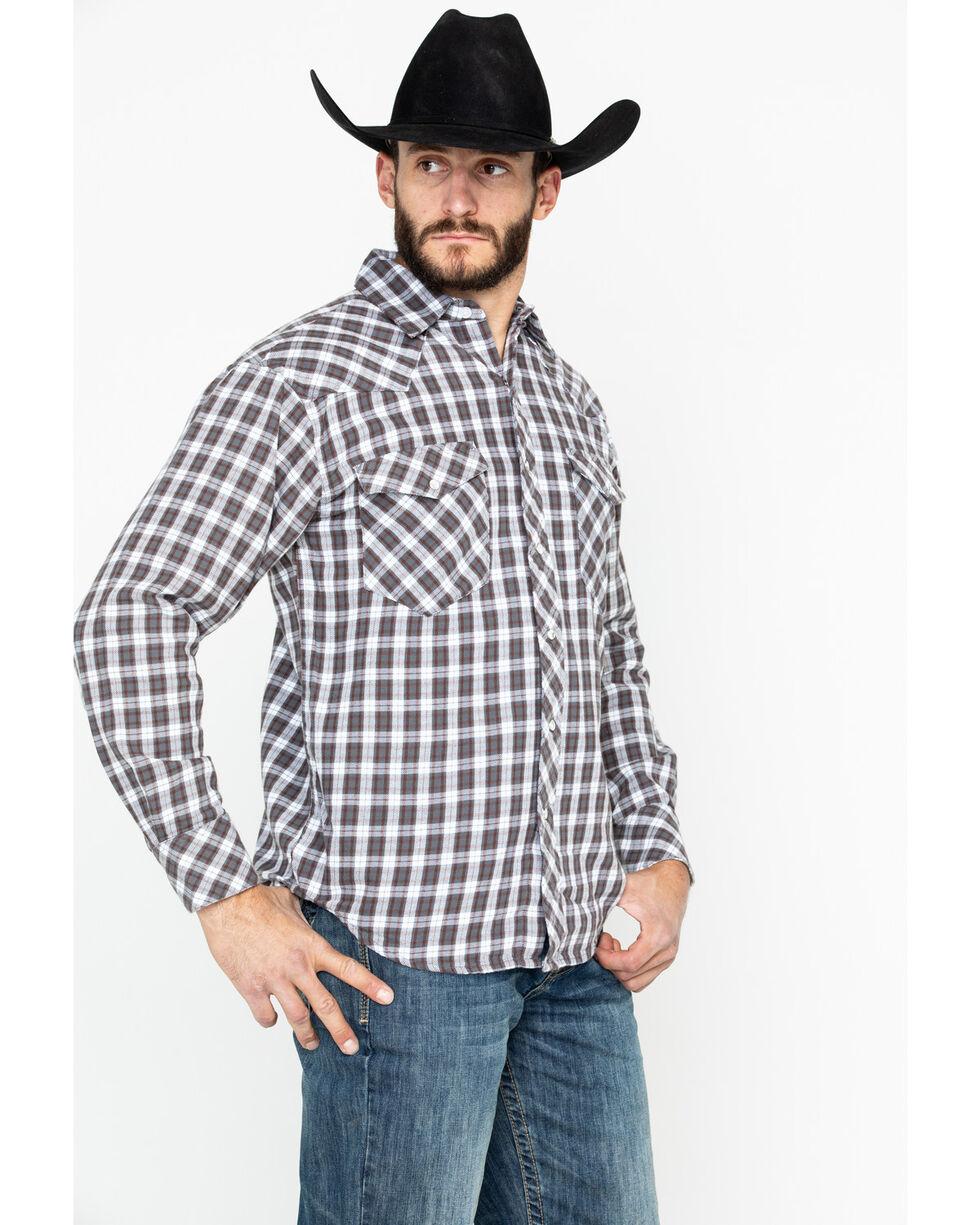 Resistol Men's Magnum Plaid Long Sleeve Western Shirt , Navy, hi-res
