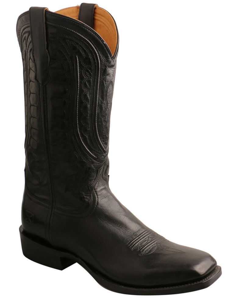Twisted X Men's Classic Rancher Western Boots - Wide Square Toe, Chocolate, hi-res