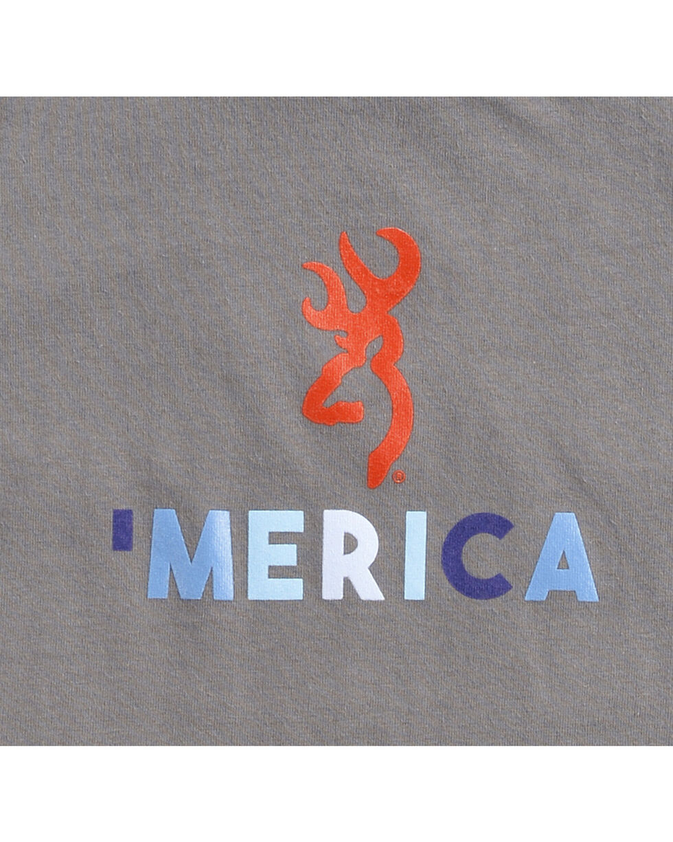 Browning Toddler Boys' Charcoal 'Merica Tee , Charcoal, hi-res
