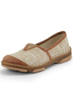 Tony Lama Women's Renata Beige Shoes - Round Toe, Tan, hi-res