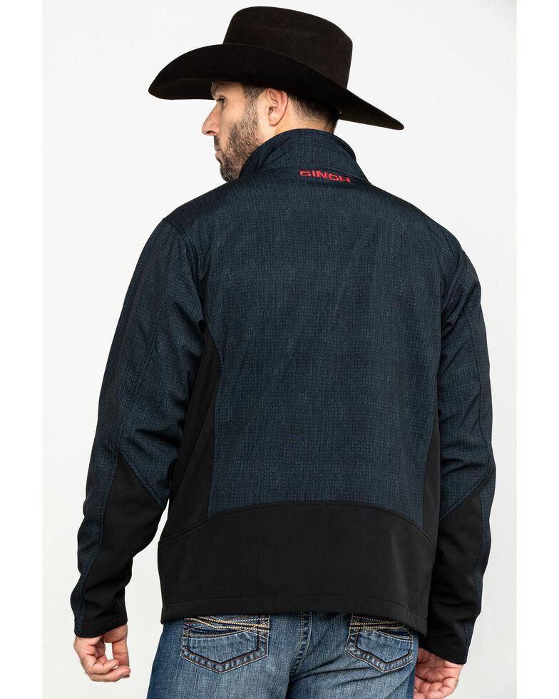 Cinch Men's Dark Gray Zip-Front Bonded Softshell Jacket , Grey, hi-res