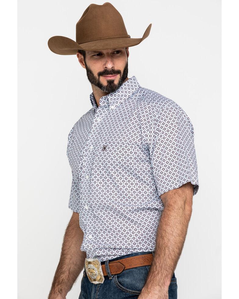 Ariat Men's Lockhart Stretch Geo Print Short Sleeve Western Shirt , Multi, hi-res