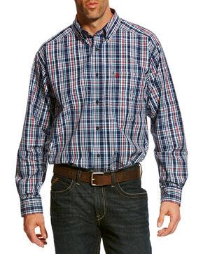 Ariat Men's Blue Baldovan Classic Fit Shirt - Tall , Multi, hi-res