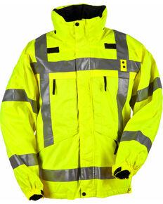 5.11 Tactical Men's Reversible High-Visibility Parka - 3XL-4XL, Yellow, hi-res