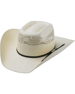 Tony Lama Vegas Bangora Straw Cowboy Hat, Natural, hi-res