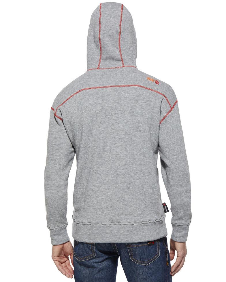 Ariat Men's Flame Resistant Polartec Grey Work Hooded Sweatshirt - Big and Tall, Hthr Grey, hi-res