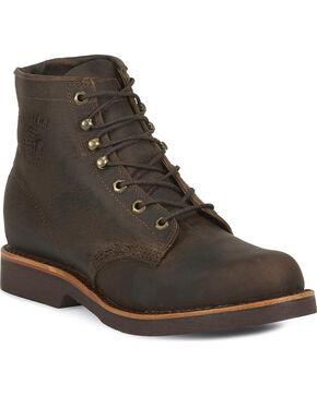 Chippewa Men's Utility Steel Toe Work Boots, Chocolate, hi-res