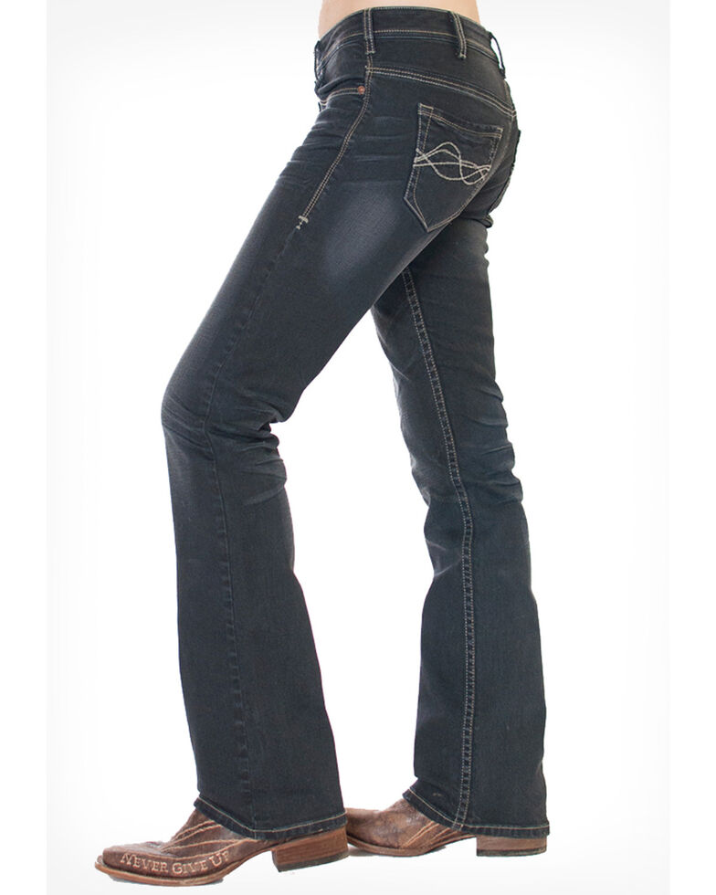 Cowgirl Tuff Women's Storm Bootcut Jeans, Blue, hi-res