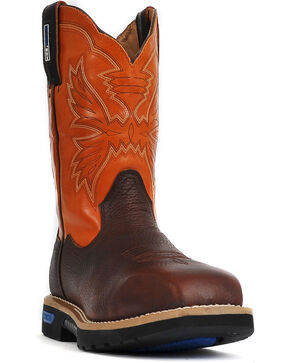 Cinch Men's Waterproof Steel Toe Work Boots, Brown, hi-res