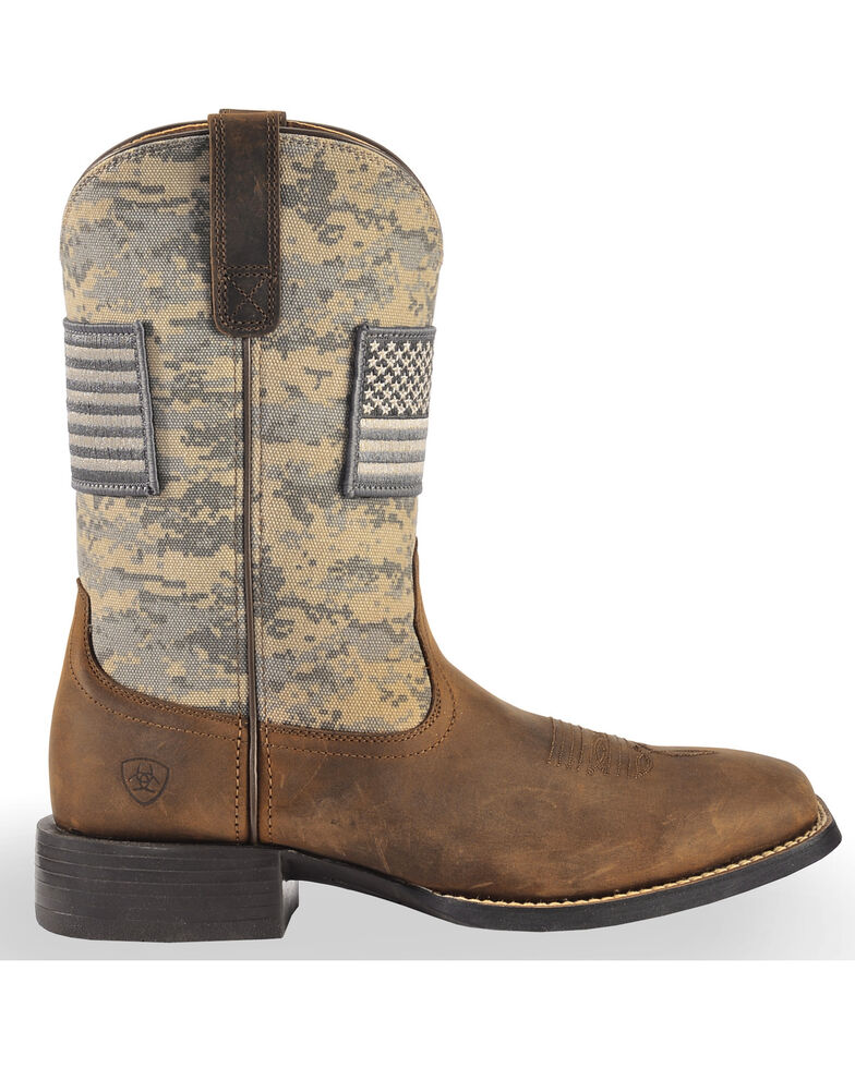 3647039d3f3 Ariat Men's Distressed Brown Sage Camo Sport Patriot Western Boots - Square  Toe