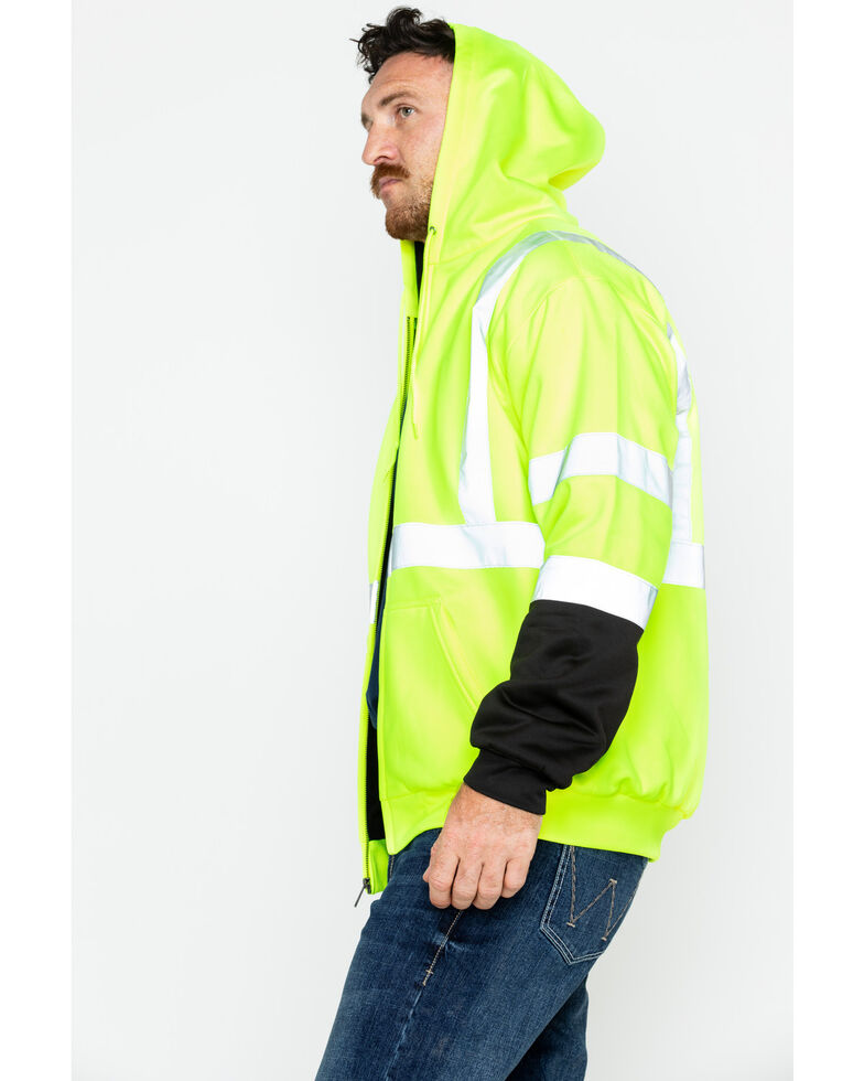 Hawx Men's Soft Shell Visibility Safety Work Jacket, Yellow, hi-res