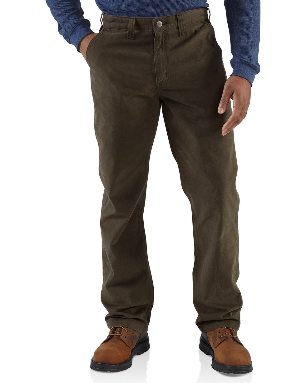 Carhartt Men's Rugged Work Khaki Pants, Coffee, hi-res