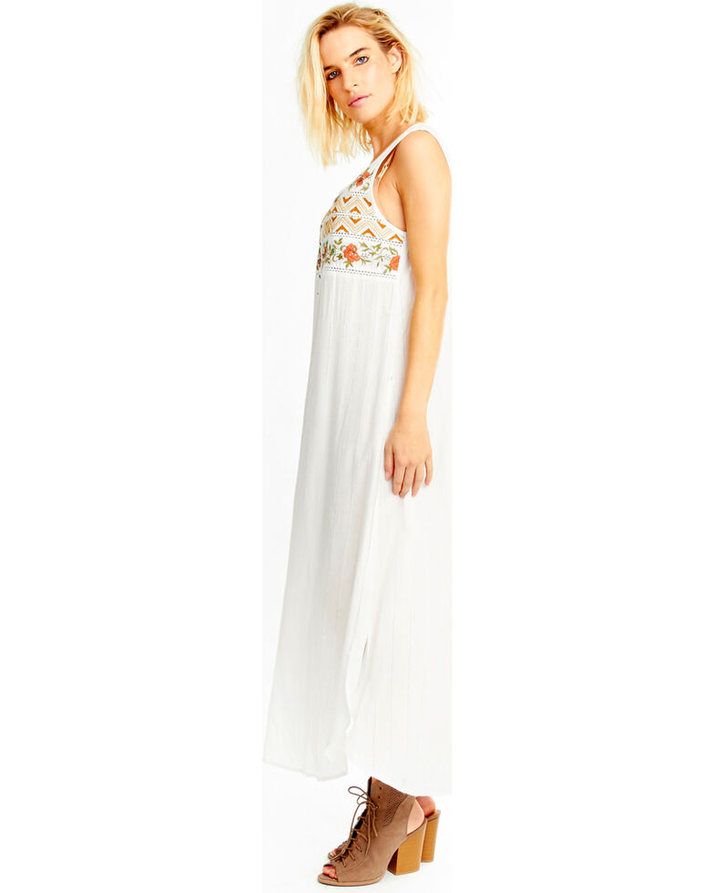 Aratta Women's White Garden Party Maxi Dress , White, hi-res