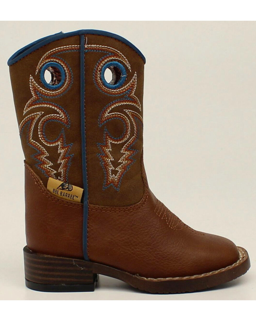 Double Barrel Toddler Boys' Zip Dylan Boots - Square Toe, Rust, hi-res
