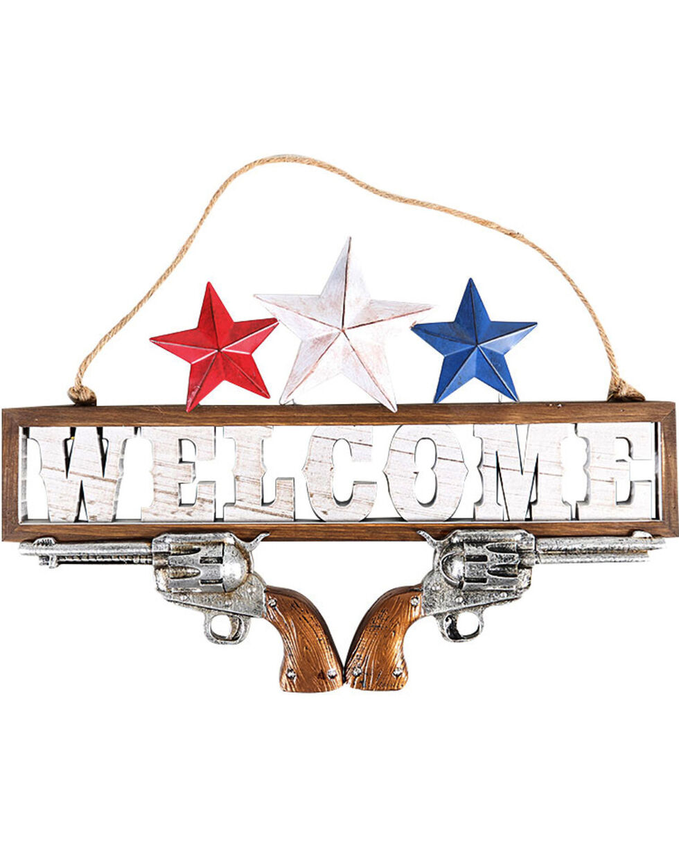 "BB Ranch®  Americana ""Welcome"" Wall Sign, No Color, hi-res"