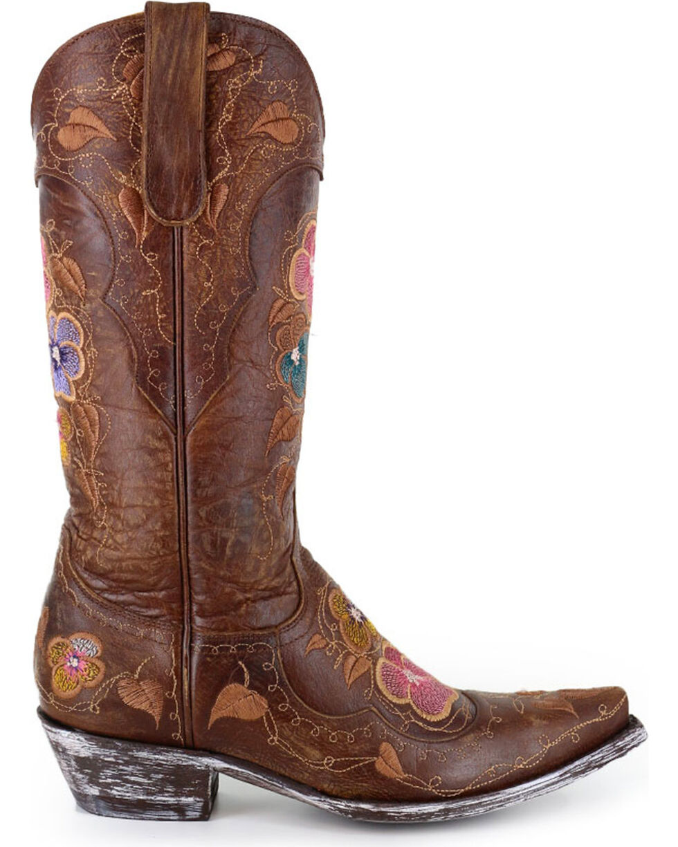 Old Gringo Women's Pansy Brass Western Boots, Bronze, hi-res
