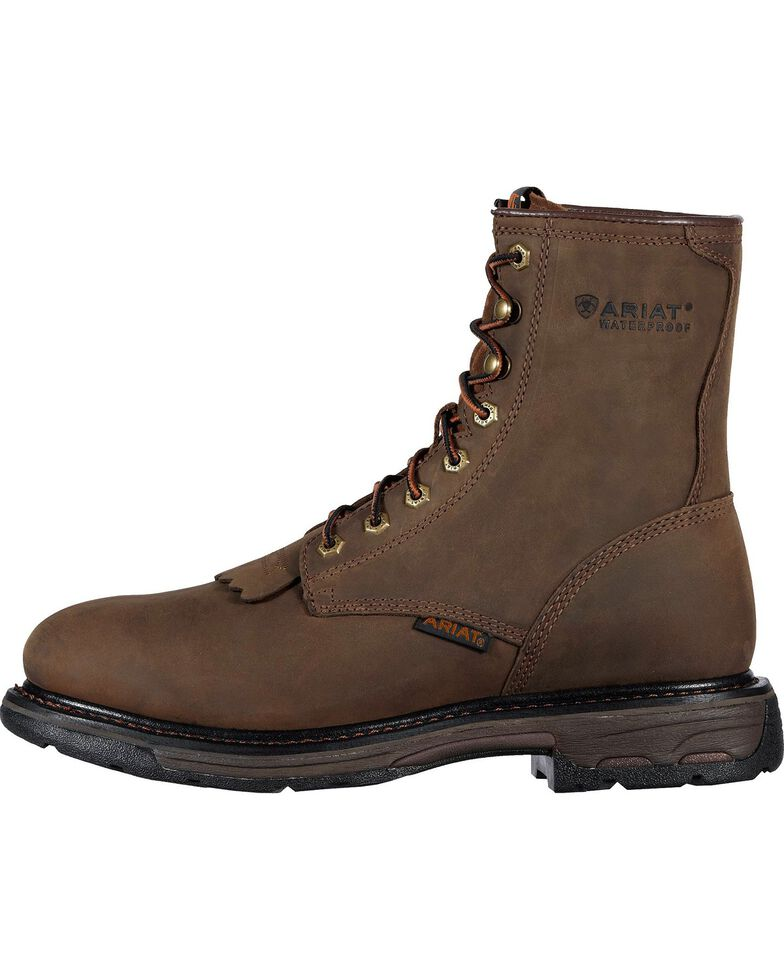 "Ariat Men's Workhog 8"" Waterproof Work Boots, Distressed, hi-res"