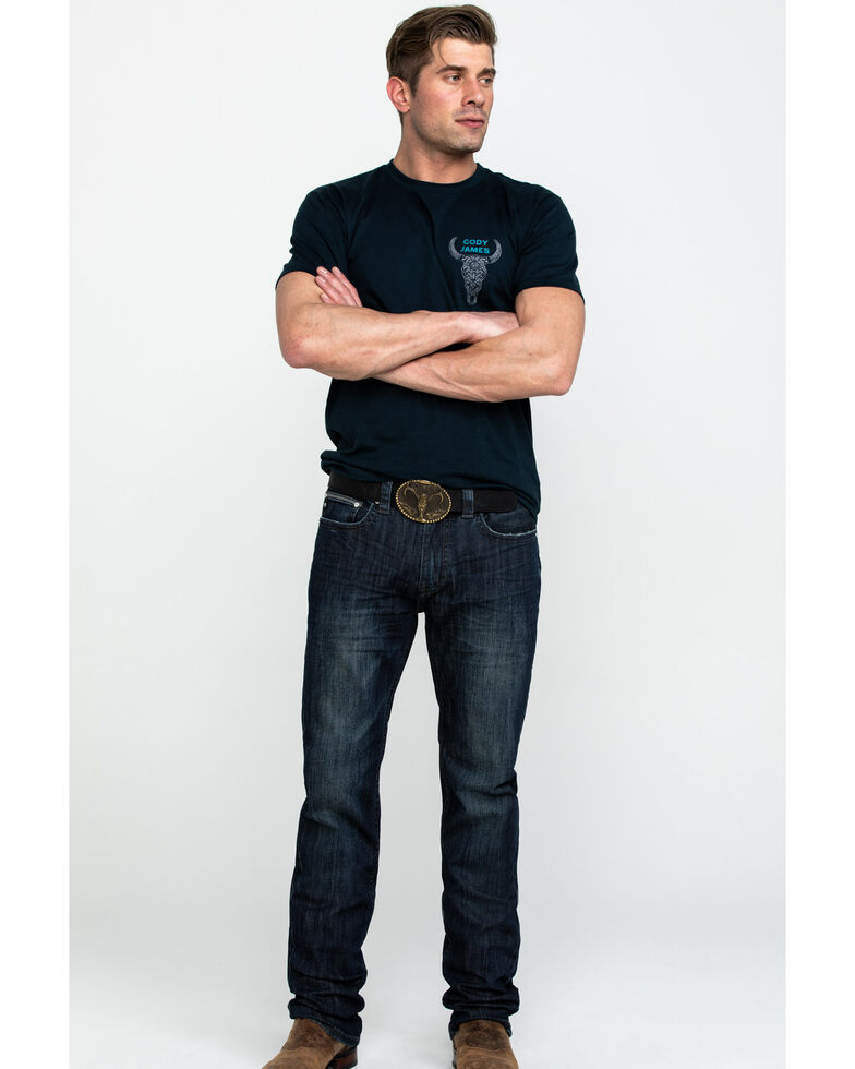 Rock & Roll Cowboy Men's Small V Reflex Revolver Slim Straight Jeans , Blue, hi-res