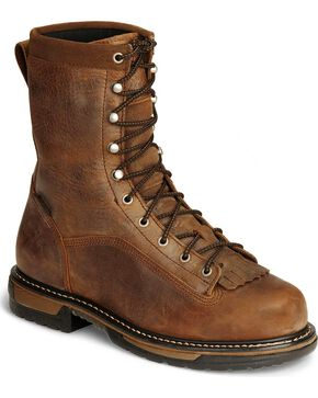 Rocky Men's Iron Clad Work Boots, Copper, hi-res