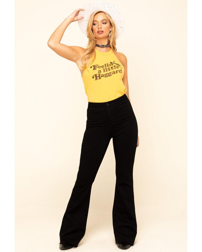 White Crow Women's Mustard Feelin' A Little Haggard Tank Top, Dark Yellow, hi-res